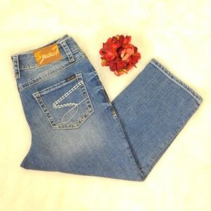 Seven7 Capri Jeans Cropped Skimmer Denim Size 14